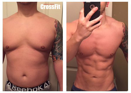 crossfit before and after photo